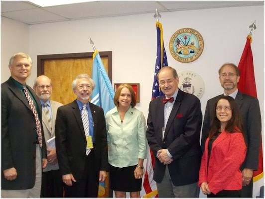 From left to right: Joe Manous, Bob Brumbaugh, Jo-Ellen Darcy, Jerry Delli Priscolli, Janet Cushing, and Will Logan
