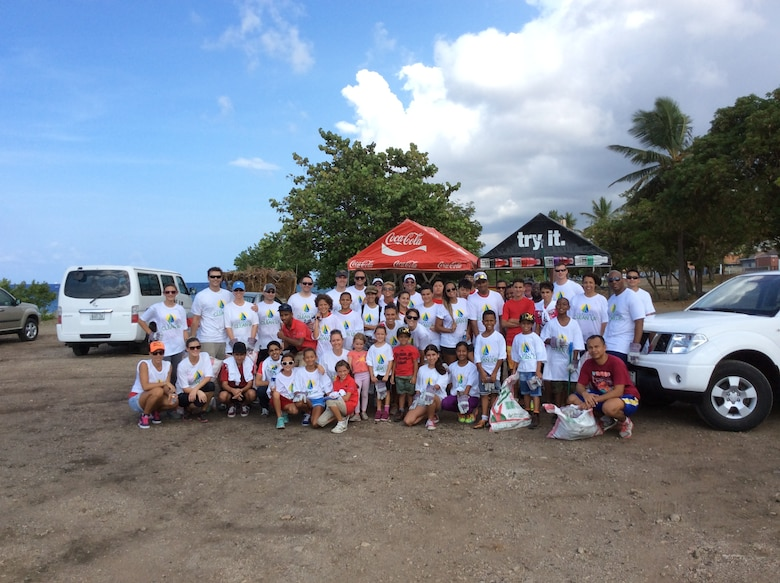 Ten volunteers from the U.S. Forward Operating Location participated in the annual island-wide Curacao Clean-up Day effort, Sept. 20, 2014. The community effort was accomplished in partnership with 50 students from the International School. Volunteers spent several hours clearing debris and picking up trash in the area of Marie Pompoen, near Sea Aquarium and Mambo. The purpose of the Clean-up Day was to help preserve and protect the island by keeping Curacao beaches beautiful, clean and safe for all to enjoy. Personnel from the USFOL often donate time and resources to various programs on the island in order to express appreciation for the hospitality they received from the citizens of Curacao. (Courtesy Photo)