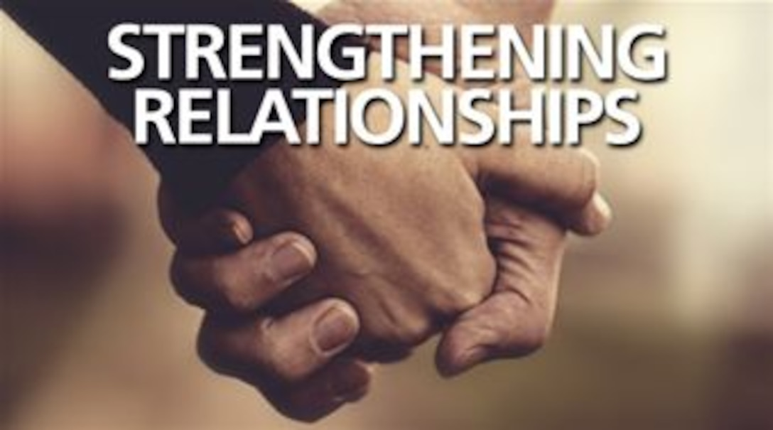 During the month of October, AFMC will promote the Strengthening Interpersonal Relationships campaign. (U.S. Air Force graphic)