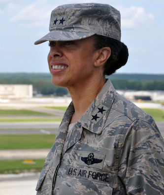 As the commander of 22nd Air Force, Maj. Gen. Stayce Harris oversees the Reserve's air mobility operations and other vital mission sets like undergraduate pilot training, flight test operations and a highly mobile civil engineering response force. (Staff Sgt. Mark Thompson)