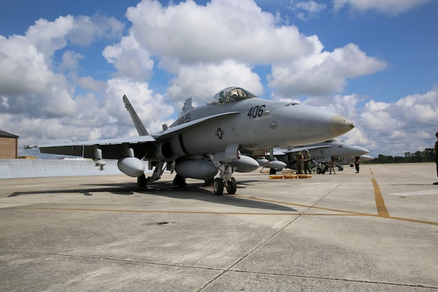 Marines with Marine Fighter Attack Squadron 251 prepare jets to take off for a group sail exercise, Sept. 18. The three week exercise along the east coast will help Carrier Strike Group 12 increase efficiency and proficiency for an upcoming deployment.