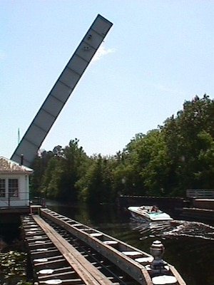 Deep Creek Bridge in Chesapeake, Va., spans the venerable Dismal Swamp Canal.