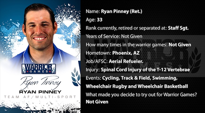 Warrior Profile -  SSgt Ryan Pinney (U.S. Air Force graphic/Corey Parrish)