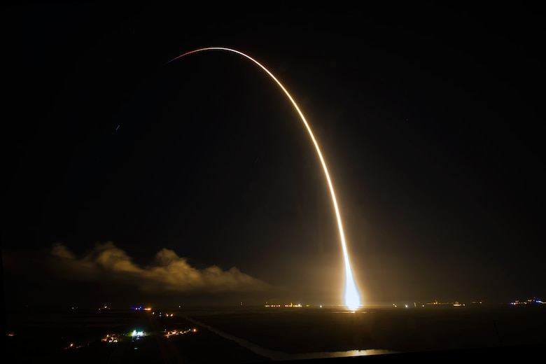 Space Exploration Technologies' (SpaceX) completed a successful launch of their Falcon 9 Dragon spacecraft headed to the International Space Station from Space Launch Complex 40, from Cape Canaveral Air Force Station, Fla., Sept. 21, 2014 at 1:52 a.m. EDT. A combined team of military, government civilians and contractors from across the 45th Space Wing provided support to the mission, including weather forecasts, launch and range operations, security, safety and public affairs. (Courtesy photo/John Studwell/AmericaSpace)