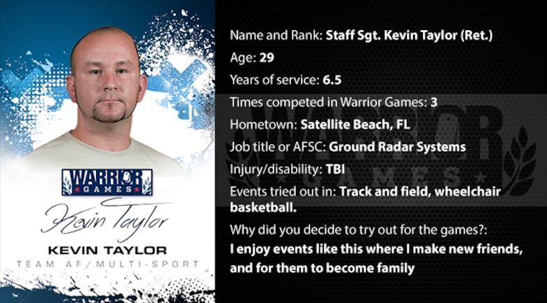 Warrior Games Profile : Kevin Taylor (U.S. Air Force graphic/Corey Parrish)