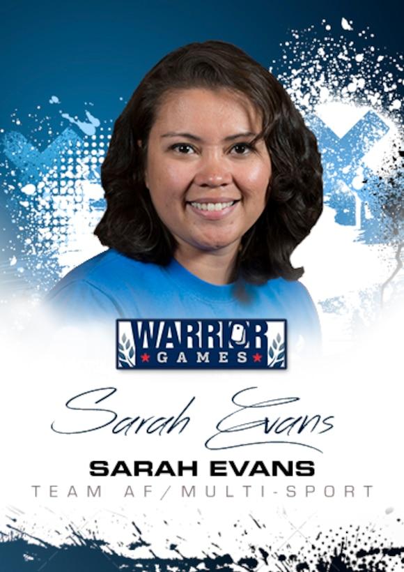 Warrior Games Profile : Sarah Evans (U.S. Air Force graphic/Corey Parrish)