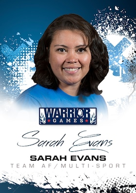 Warrior Games Profile : Sarah Evans (U.S. Air Force graphic/Corey Parrish)