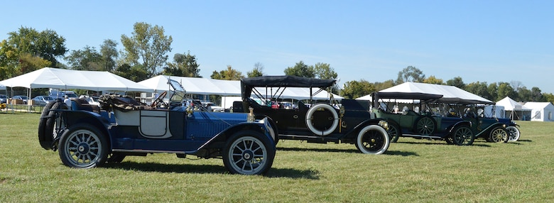 DAYTON, Ohio -- More than 20 antique automobiles will be displayed and paraded around the grounds during the Ninth WWI Dawn Patrol Rendezvous on Sept. 27-28, 2014. (U.S. Air Force photo)