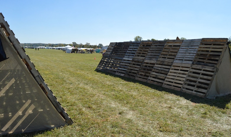 DAYTON, Ohio -- An above-ground trench will serve as the entrance and exit point to the grounds during the Ninth WWI Dawn Patrol Rendezvous on Sept. 27-28, 2014, providing visitors with a feel for how trench warfare was conducted in the early 20th century. (U.S. Air Force photo)