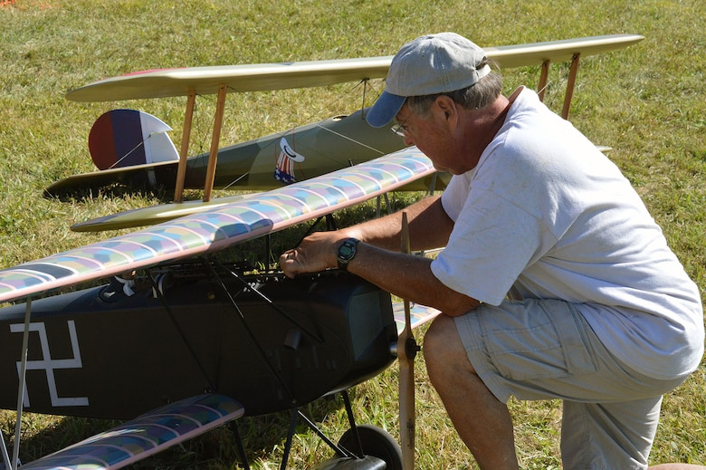 DAYTON, Ohio -- More than 100 WWI-era radio-controlled model aircraft, some as large as 1/2-scale, will perform simulated dogfights, demonstrate formation flying and bomb dropping, and other missions typical of the Great War during the Ninth WWI Dawn Patrol Rendezvous on Sept. 27-28, 2014. (U.S. Air Force photo)