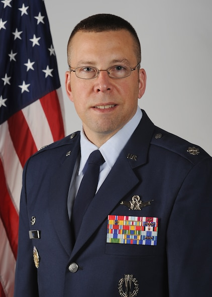 Lt. Col. Timothy Bos, 460th Operations Support Squadron commander