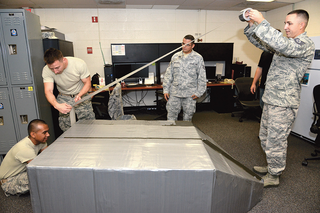 Airmen Sink Spare Time In Duct Tape Boat Kirtland Air Force Base