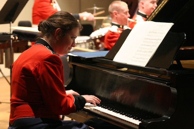On April 4, 2007 Gunnery Sgt. AnnaMaria Mottola performed with the Marine Band at the Maryland Hall for the Performing Arts in Annapolis, Md. (U.S. Marine Corps photo by Staff Sgt. Rachel Ghadiali/released)