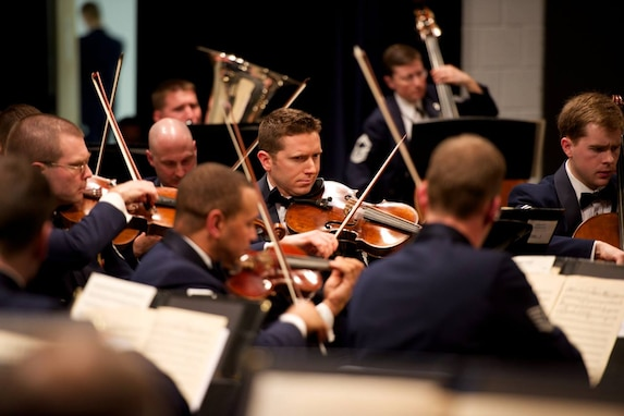 The Air Force Orchestra performed three local concerts of American music, including the Washington DC area premiere of Arlington Sons, a piece written by Scott Eyerly for Metropolitan Opera singer David Pittsinger and his son Richard. (U.S. Air Force Photo/released)