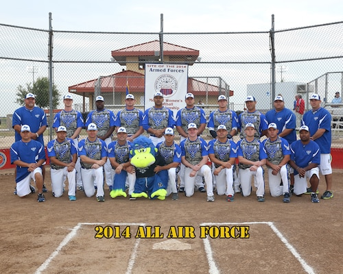 All Air Force Mens Softball Team at the 2014 Armed Forces Softball Championship at Fort Sill, Okla. 14-19 September.