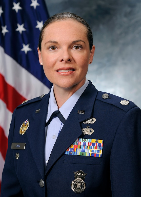 Lt. Col. Molly Spedding Long, IMA to the 50th Security Forces Squadron commander