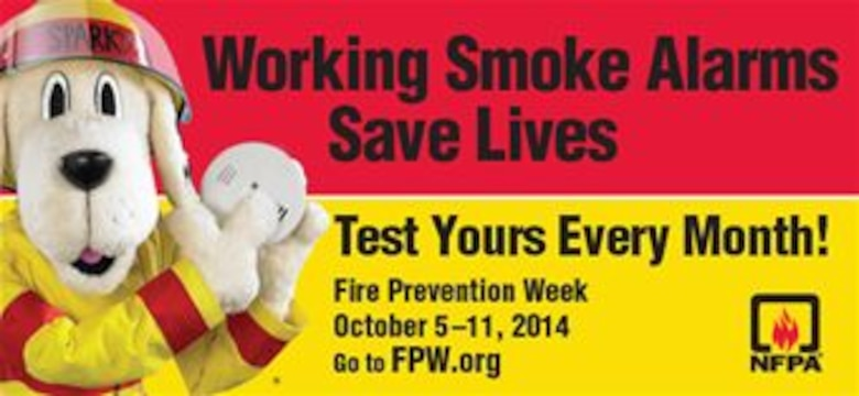 The Hanscom Fire Department will recognize Fire Prevention Week Oct. 5 through 11 by reminding all base employees and residents to test their fire alarm monthly.