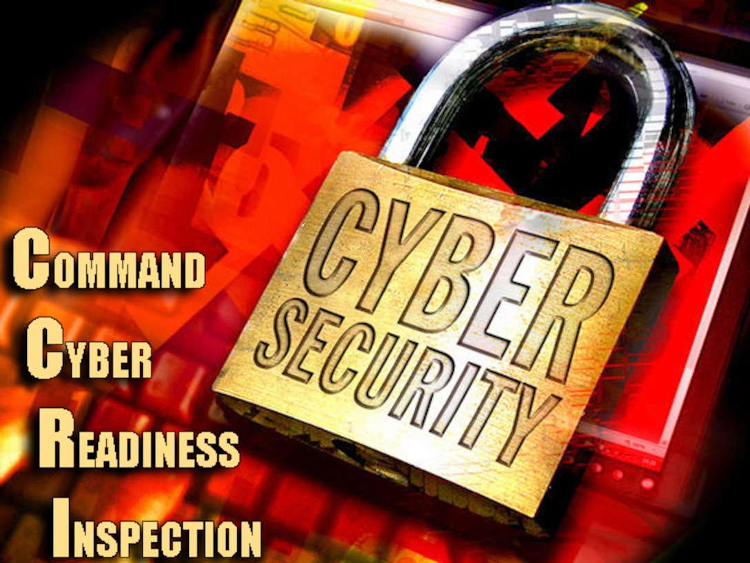 This May, MacDill Air Force Base, Florida will be undergoing a Command Cyber Readiness Inspection. This inspection is graded on a national standard and bases across the United States are affected by it. The outcome will determine if the base is in compliance and if it will remain connected to the Global Information Grid. (U.S. Air Force graphic by Senior Airman Shandresha Mitchell/Released)