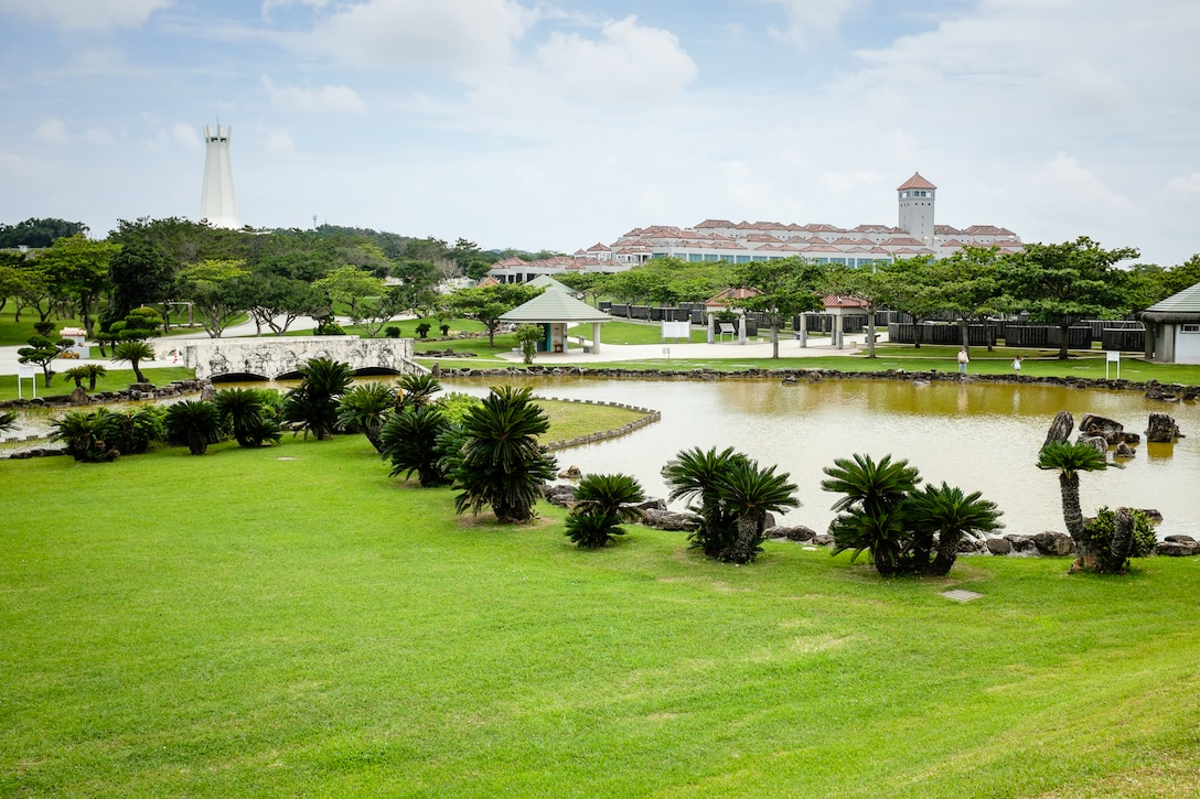 The Okinawa Prefectural Peace Memorial Museum is located near Mabuni Hill, also known as Hill 89, in Itoman City, Okinawa. Mabuni Hill was where the Battle of Okinawa ended June 22, 1945. Also on the museum grounds is The Cornerstone of Peace, which lists more than 240,000 names etched in stone of those who died in the Battle of Okinawa, and Memorial Path, which has 32 memorials. (U.S. Air Force photo by Tech. Sgt. Alexy Saltekoff)