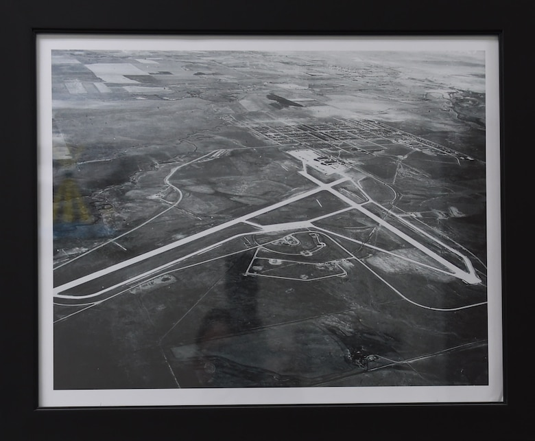 An aerial view of Buckley Field while it was controlled by the Colorado Air National Guard. The main gate is located at the top right corner. (Courtesy Photo)