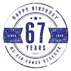 This graphic is for use by all participants in the Air Force Reserve birthday.