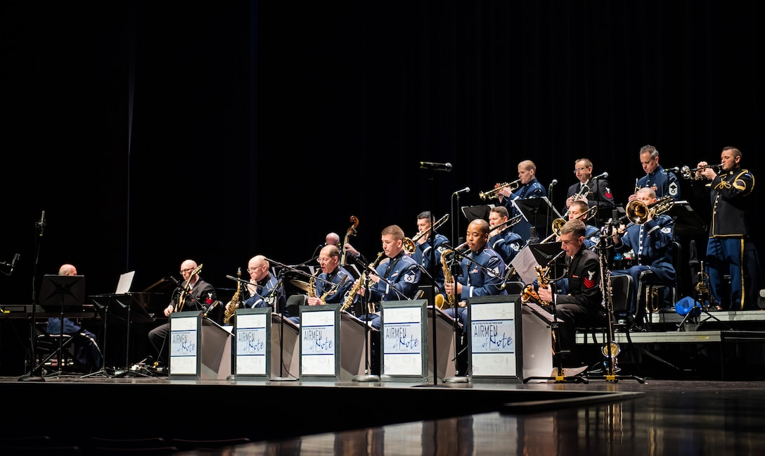 The Airmen of Note performs at Missouri State University. (U.S. Air Force photo by Technical Sgt. Chad Randolph/released)