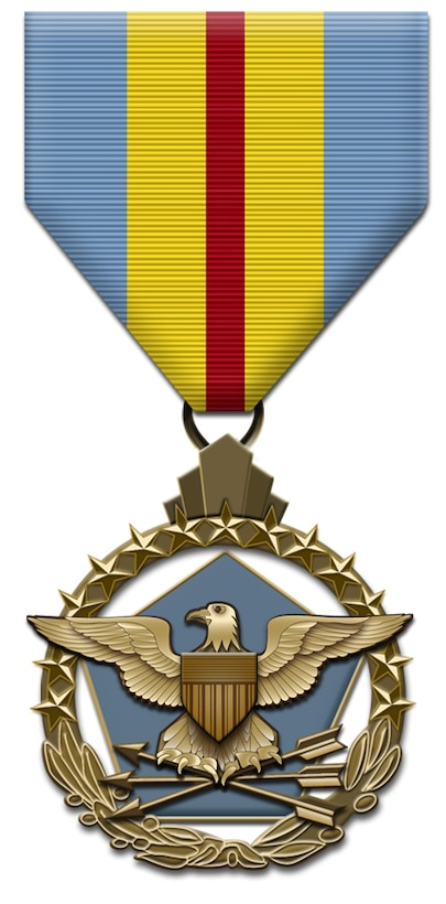 Defense Distinguished Service Medal - Awarded to the most senior officers whose performance of duties over a sustained period of time are exceptional in nature and directly impact national security or defense at the highest levels. It is the highest peacetime Defense award and is only awarded by the Secretary of Defense. The Defense Distinguished Service Medal has been in effect since July 9, 1970. (U.S. Air Force graphic)