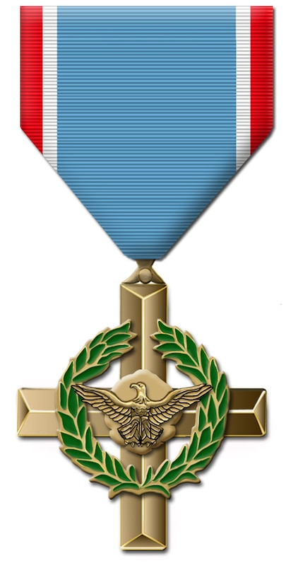 Air Force Cross - Awarded for extraordinary heroism, which does not justify award of the Medal of Honor. The Air Force Cross was established by Congress on July 6, 1960 as a replacement for the Distinguished Service Cross when the award was made by Air Force Authority. The First Air Force Cross was awarded posthumously in 1962. (U.S. Air Force graphic)