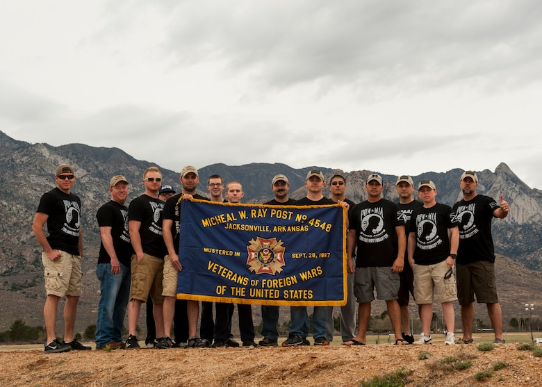 Members from the 19th Logistics Readiness Squadron participated in the Bataan Memorial Death March, at White Sands Missile Range, N.M., March 22. The Bataan Memorial Death March honors U.S. service members and Filipino prisoners of war during World War II. Historians estimate the death toll neared 10,000. (U.S. Air Force photo by Airman 1st Class Scott Poe)