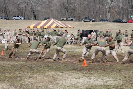 MCIOC Marines participate in the tug od war competion
