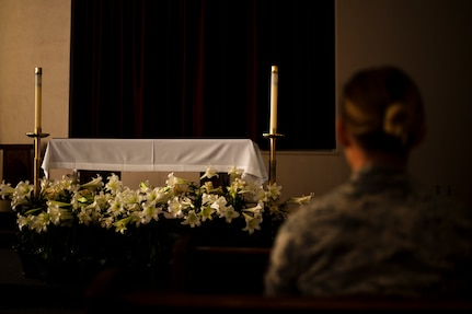 """""""For many people, spirituality is purpose, not necessarily religion."""" -Capt. Aaron Reynolds, a Joint Base Andrews chaplain. (U.S. Air Force photo/ Airman 1st Class J.D. Maidens)"""