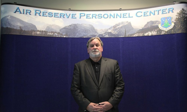 Andrew Hamilton, Air Reserve Personnel Center human resource specialist, will be awarded an annual Rocky Mountain Eagle Award for Outstanding Customer Service during a ceremony to be held in conjunction with the Colorado Federal Executive Board Professional Development Seminar May 5, 2015, in Denver. Nominations for the Rocky Mountain Eagle Awards are selected from all civilian, military and postal agencies and are open to federal employees within the State of Colorado at all grades of service from entry level through senior executive service. (U.S. Air Force photo/Tech. Sgt. Rob Hazelett)