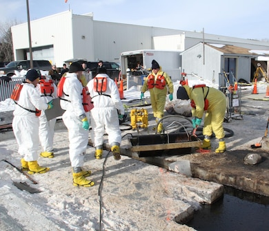 The course was completed over one week, training approximately 40 spill response personnel. These groups represented various oil companies and agencies working the oil industry in cold regions. CRREL Research Civil Engineer Leonard Zabilansky provided logistical oversight and technical assistance.