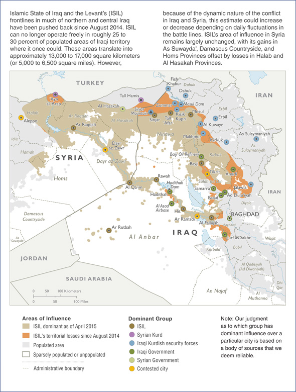 ISIL Loses Control Of Oncedominated Iraq Territory US - Map of area that us forces control in syria