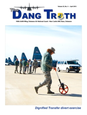 Cover of the April 2015 edition of The DANG Truth, the official electronic newspaper of the 166th Airlift Wing, Delaware Air National Guard.