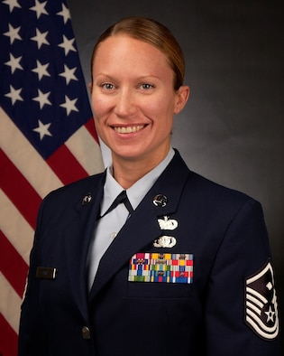 Master Sgt. Sally J. Ford, 129th Mission Support Group First Sergeant, has been selected the First Sergeant of the Year for the 2015 Air National Guard.