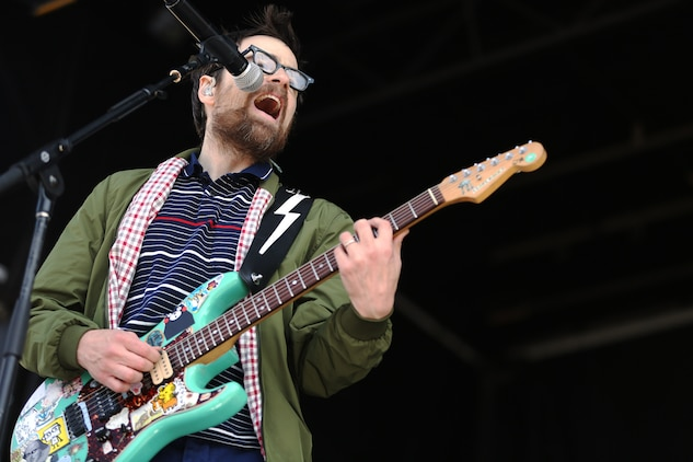 Camp Pendleton hosted Weezer during 'For the Leathernecks IV Entertainment Tour Concert' held at Marine Corps Air Station Camp Pendleton as part of the 20th Anniversary of the Single Marine Program, April 10.
