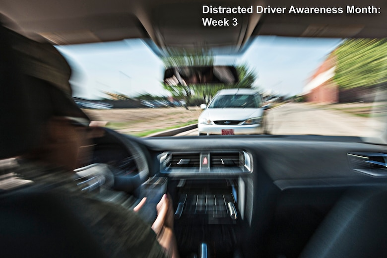 An activity can create multiple types of distraction. For example, using a hand-held mobile phone while driving creates a biomechanical, auditory and cognitive distraction. (U.S. Air Force photo/ Senior Airman Michael Smith)