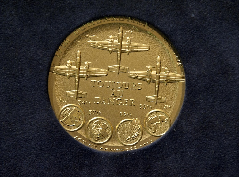 The Congressional Gold Medal was presented to the Doolittle Tokyo Raiders April 15, 2015, at the U.S. Capitol Visitor's Center Emancipation Hall. The medal, created by the U.S. Mint, is the highest civilian honor Congress can give, on behalf of the American people, and was presented in recognition of the Doolittle Tokyo Raiders' outstanding heroism and service to the U.S. during World War II. (U.S. Air Force photo/Tech. Sgt. Anthony Nelson)
