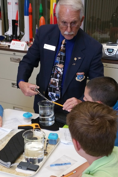 DAYTON, Ohio -- Students participate in Home School Day on April 20, 2015, at the National Museum of the U.S. Air Force. (U.S. Air Force photo)
