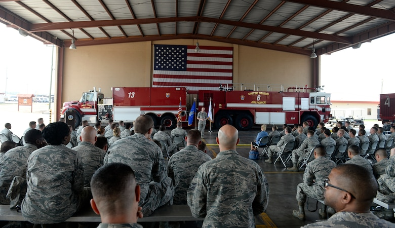 Chief Master Sgt. of the Air Force James A. Cody speaks to enlisted Airmen April 14, 2015, at Joint Task Force - Bravo, Soto Cano Air Base, Honduras. Cody spoke of the new enlisted performance report system as well as the direction enlisted professional military education is turning. (U.S. Air Force photo by Staff Sgt. Jessica Condit)