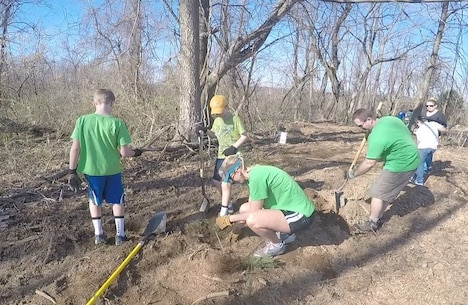 Volunteers planted seedlings during Take Pride in Blue Marsh Day in April of 2015. 400 volunteers took part in the annual tradition which encourages the public and organizations to get involved in the stewardship of public lands, waters and parks.
