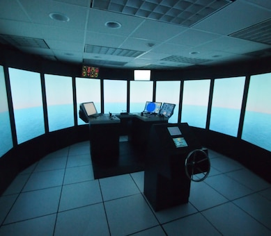 Engineers and ship pilots can now overcome the challenges of evaluating navigation channel designs, modifications and safety issues. Located at ERDC's Coastal and Hydraulics Laboratory (CHL), the ERDC Ship/Tow Simulator can simulate ports, harbors, inland waterways and any other maritime environment.