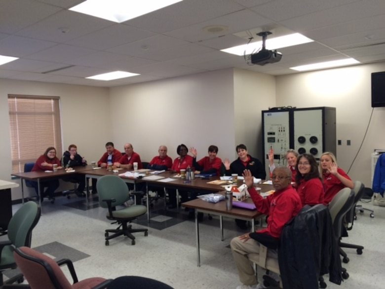 Volunteers meet during drill weekends to support Airmen at the 139th Airlift Wing, Missouri Air National Guard. Volunteers tracked more than 1,196 hours in 2014 in support of the wing. (Courtesy photo)