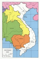 Map of Southeast Asia during the Vietnam War