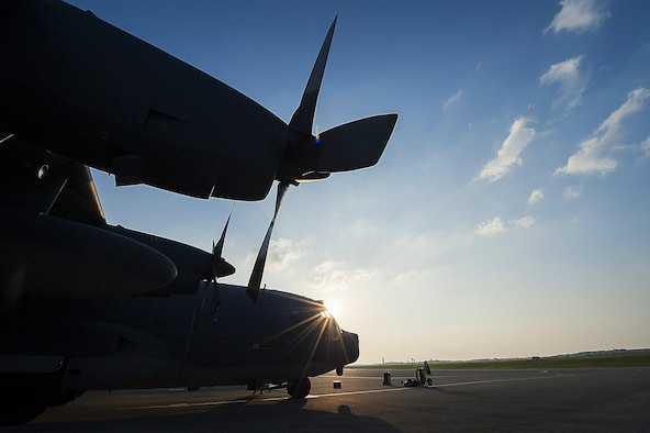 "An MC-130P Combat Shadow awaits its final checks on Kadena Air Base, Japan, before departing for the ""boneyard"" at Davis-Monthan Air Force Base, Ariz., April 15, 2015. The 17th Special Operations Squadron sent off the final two Combat Shadows in the Pacific Air Forces to retire after nearly 50 years of service. (U.S. Air Force photo/Airman 1st Class Stephen G. Eigel)"