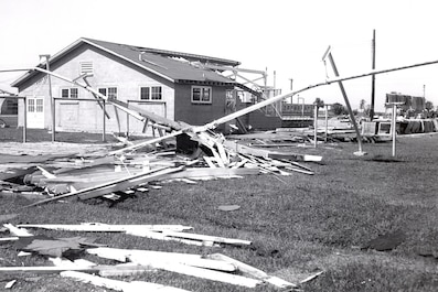 Hurricane Gracie hit Parris Island in September 1959.