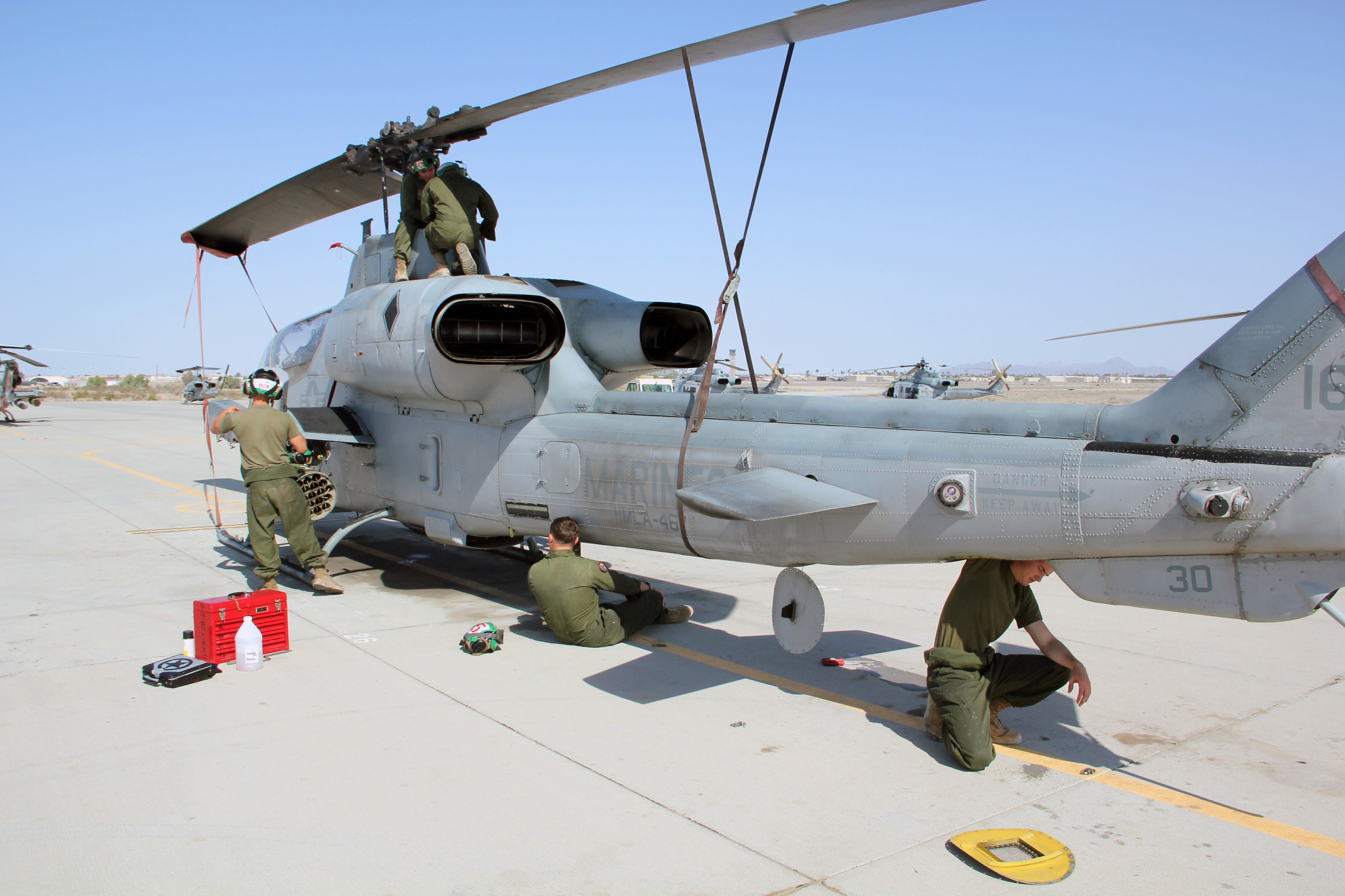 MAWTS-1 maintenance Marines keep birds flying during WTI ...