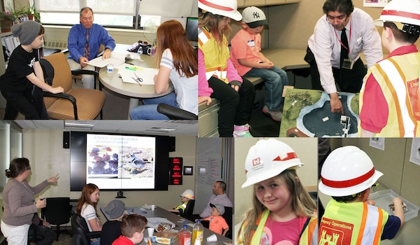 "Children of all ages joined their parents in the North Atlantic Division workplace during ""Bring Your Child to Work Day,"" an annual event in celebration of the national ""Take Our Daughters and Sons to Work Day."""