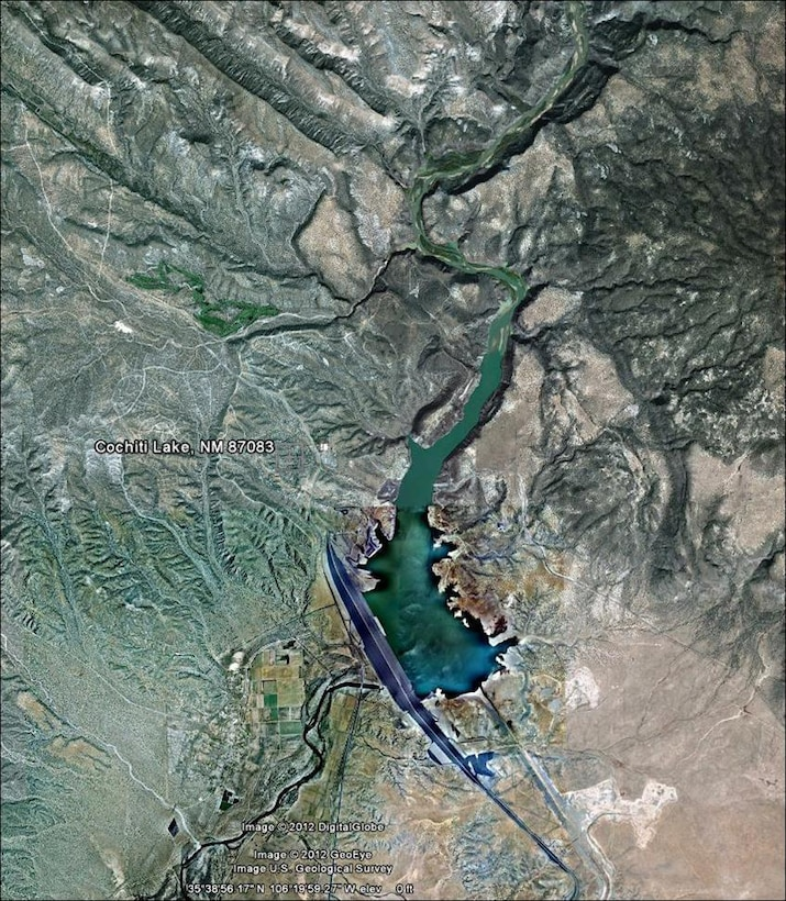Aerial view of Cochiti Lake, N.M.